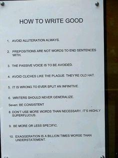Write good