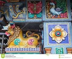 The Colorful Hindu Temple In Bangkok , Thailand Stock Photo - Image of bangkok, statue: 100319444 Asian Architecture, Hindu Temple, Hindu Art, Bangkok Thailand, Decorative Boxes, Colorful, Stock Photos, Statue, Pattern