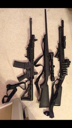 Ar15 Tactical 5.56/.223 Bolt action 308/7.62x51 Sniper Rifle 12 Ga Tactical shotgun