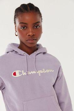 2deae329 Champion Script Logo Hoodie Sweatshirt | Urban Outfitters