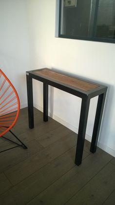 Table basse bistrot, table basse bois et métal, table vintage, table ...