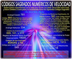 Ángeles Amor: CÓDIGOS SAGRADOS NUMÉRICOS DE VELOCIDAD.