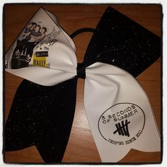 5SOS CHEER BOW five seconds of summer BLACK #5S0S