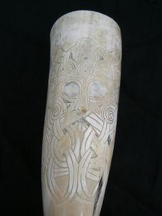 Hand Carved Knotwork Viking Viking Life, Viking Art, Ale Horn, Viking Berserker, Viking Longship, Custom Leather Belts, Viking Drinking Horn, Viking Designs, Viking Culture
