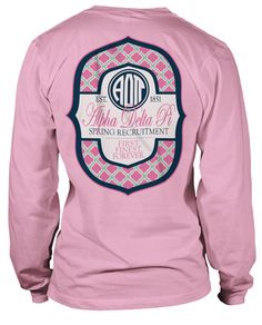 Cute Alpha Delta Pi Monogram Style T-shirt.
