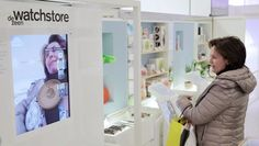 Augmented reality demonstration at Dezeen's Imagine Shop at Selfridges