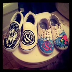 hand painted vans | Of Mice And Men Band Quotes | Of Mice and Men Shoes by ~MonteyRoo on ...
