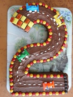 Number cake - Racing birthday party