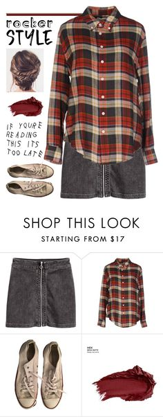 """If You're Reading This It's Too Late"" by danielsfashion ❤ liked on Polyvore featuring Band of Outsiders, Converse, Urban Decay, rockerchic, contestentry and rockerstyle"
