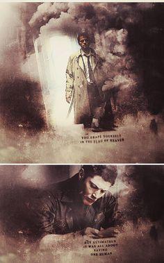 Dean + Castiel: One human, right? #spn #destiel