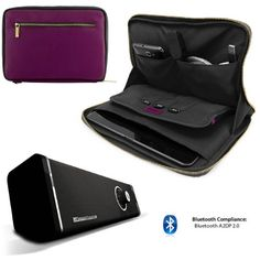 Faux Leather Carrying Bag Sleeve Case For Acer Iconia A Series 10.1 inch Tablet + Includes 10hr Bluetooth Loud Boombox with Subwoofer Vangoddy Irista bag for Acer Iconia A Series 10.1 inch Tablet. Simple, stylish, lightweight friendly leather padded sleeve bag protects against scuffs bumps and scratches. Convenient gold zipper closure keeps your device secure when you're on the go. Feature with no... #Vangoddy #OfficeProduct