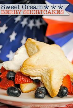 These Sweet Cream Berry Shortcakes are easy and delicious with the help of International Delight's Sweet Cream creamer. The perfect patrioti...