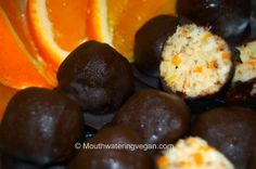 Mini Orange 'Bounty' Truffles (Moist Centred Mega-Orange & Coconut) « Mouthwatering Vegan Recipes™