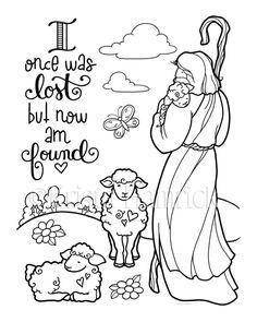 Good Shepherd 2 coloring pages for children Creation Coloring Pages, Jesus Coloring Pages, Bible Verse Coloring Page, Scripture Art, Bible Art, Bible Verses, Scripture Doodle, Kids Bible, Journaling