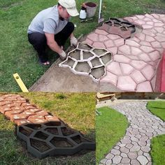 Description:Get creative with these Easy DIY Pavement Molds and design your own backyard landscaping! Transform your garden and design in your own style with the colors you like! Main Features:Durable and reusable PP plastic mold, clean... #diyshedplans #LandscapeDesignPlans
