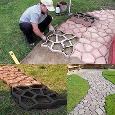 Easy Diy Pavement Mold Backyard Landscaping Backyard Patio Stones