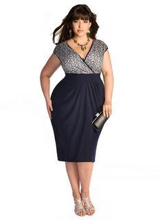 Plus Size Dress - Gaby Plus Size Cocktail Dress in Navy Shop www.curvaliciousclothes.com #curvy #plussize #fashion