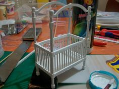 Tutorial MINIATURE CRIB - ! ♥ Small Things - Miniatures Hobby ♥!: