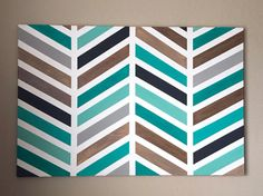 Herringbone Painting  Original Wall Art  by HillCountryREHASH