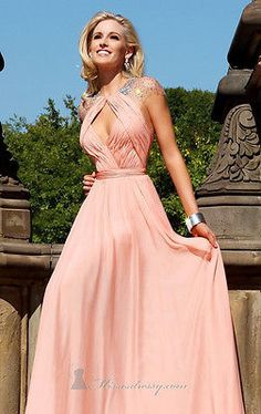 Sexy Pink Chiffon Evening Dress Celebrity Pageant Dress Party Prom Gown Custom