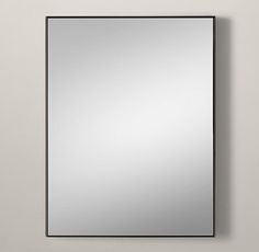 """Metal Floating Mirror 30"""" W x 68"""" H (this size is on vanity drawing), raw steel finish to go over vanity"""