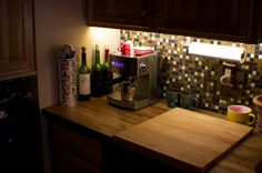 Under Cabinet Lighting Under Cabinet Lighting, Liquor Cabinet, My House, Flooring, Heart, Kitchen, Furniture, Home Decor, Cooking