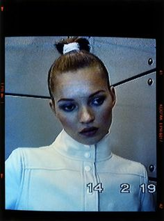 """""""The work is entitled The more visible they make me, the more invisible I become and features a 20 year old Kate Moss. It was shot on a security camera at a time when surveillance culture was just beginning and a topic of controversy. The medium and its subject combine to make a powerful statement about celebrity, voyerism and the fashion photographer"""" Nick Knight"""