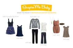 Spring Mother Daughter sessions what to wear
