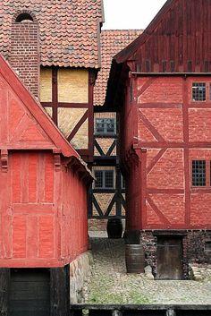 """Fra """"Den gamle by i Århus""""     Old Town Aarhus, Denmark"""