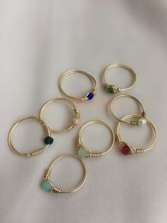 Diy Wire Jewelry Rings, Wire Jewelry Designs, Handmade Wire Jewelry, Diy Rings, Hand Jewelry, Handmade Rings, Bead Jewellery, Diy Crafts Jewelry, Cute Jewelry