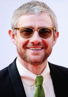 Martin at the TV Baftas 2014 -- Martin, I mustache you a question..