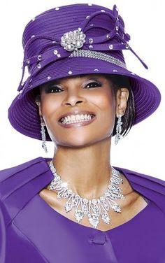 Purple ... love the hat.