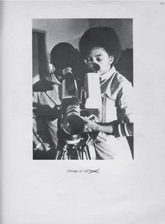 """Page from Cahiers du Cinèma, no. May The caption under the photograph reads: """"The Image and Its Secret."""" In the late Jean-Luc Godard was invited to Mozambique to start a television. Kodak Film, Jean Luc Godard, Film School, Martin Scorsese, Reading, Caption, Albums, 1970s, Magazines"""