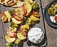from recipe com tandoori grilled vegetables with mint raita spices ...