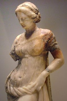 Statuette of a Woman Greek  100-1 BCE Marble