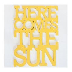 Here Comes the Sun 16 x 21 handmade wood sign in any color. $155.00