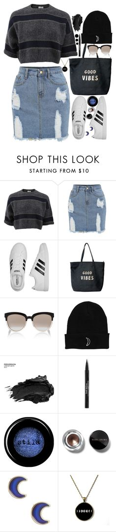 """""""Full Moon"""" by atarituesday ❤ liked on Polyvore featuring Brunello Cucinelli, adidas, Venus, Christian Dior, Urban Decay, Trish McEvoy, Arbonne, Stila, Bobbi Brown Cosmetics and claire's"""