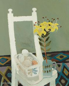 Mary Fedden: White Chair oil on canvas x Still Life Art, Art For Art Sake, Painting & Drawing, Amazing Art, Oil On Canvas, Cool Art, Art Gallery, Illustration Art, Drawings