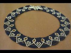 """Колье из бисера """"Королевское"""".  Бисероплетение.  Мастер класс / Necklaces of beads. Beading - YouTube"""