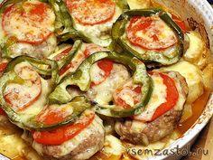 Котлеты с овощами ( one pot meal)