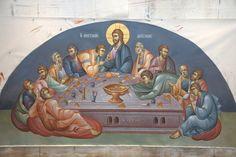 3 posts published by iconsalevizakis during June 2013 Byzantine Icons, Byzantine Art, Church Interior, Religious Images, Last Supper, Orthodox Icons, Jesus Christ, Christianity, Scene