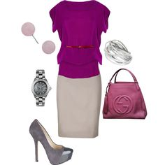 work outfit, created by bonnaroosky on Polyvore