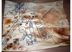 خريطة الكنز :) - طريقة عمل خريطة قديمة