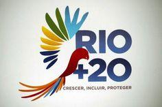 Official logo for Rio +20 in Rio de Janeiro.
