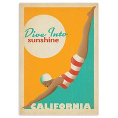 Dive Into Sunshine Print, 19€, now featured on Fab.
