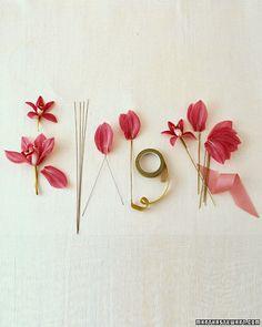 Cymbidium Nosegays - Martha Stewart Weddings Inspiration