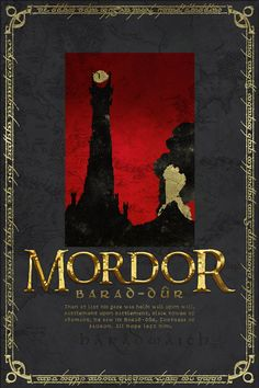 Mordor Travel Poster from Lord of the RIngs and the by PasspArt, $20.00