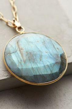 Rounded Labradorite Pendant Necklace