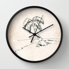 Let it beach Wall Clock by escrevendoesemeando Wood Clocks, Let It Be, Wall, Design, Writing, Walls, Wooden Clock