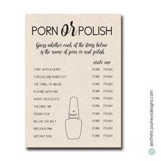 Porn or Polish